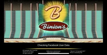 Binion's Casino loading screen