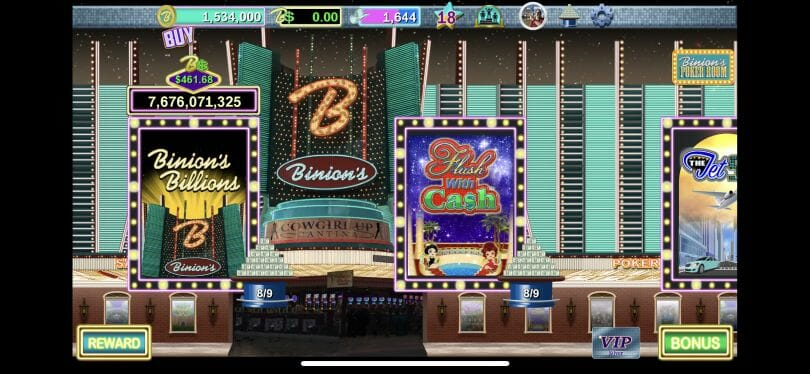 Binion's Casino slot room