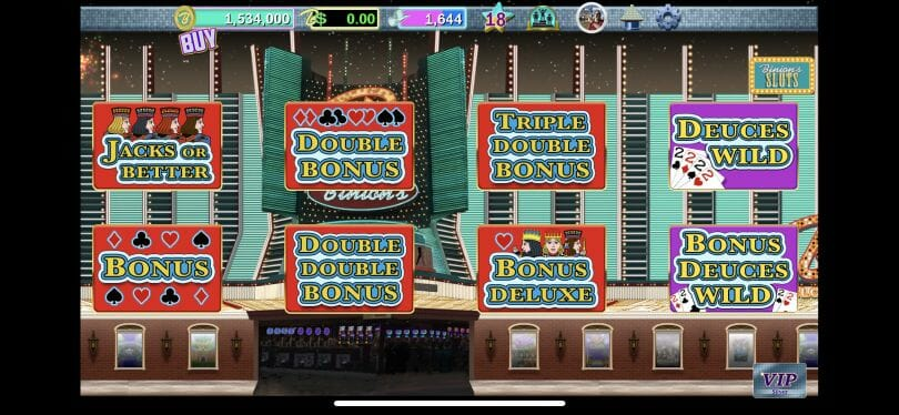 Binion's Casino video poker room