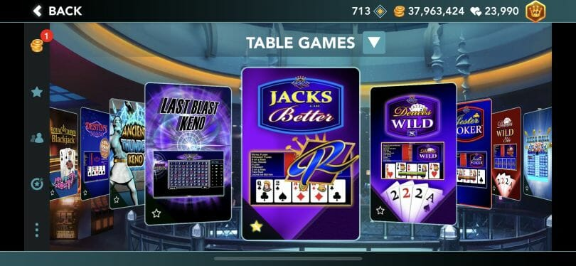 Foxwoods Online table games lobby