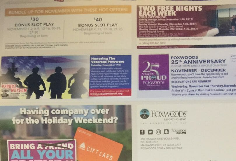 Offers from Foxwoods