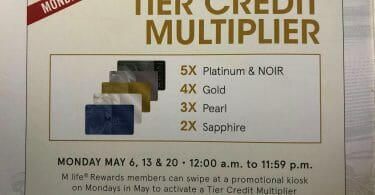 MGM Tier Credit Multiplier