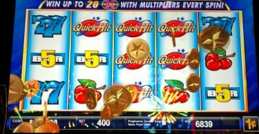 Quick Hit by Bally six symbol win