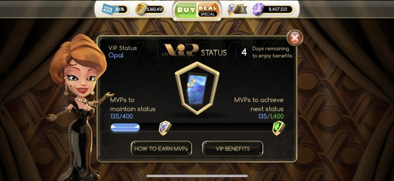 MyVegas Slots VIP level