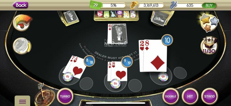 myVEGAS Blackjack game