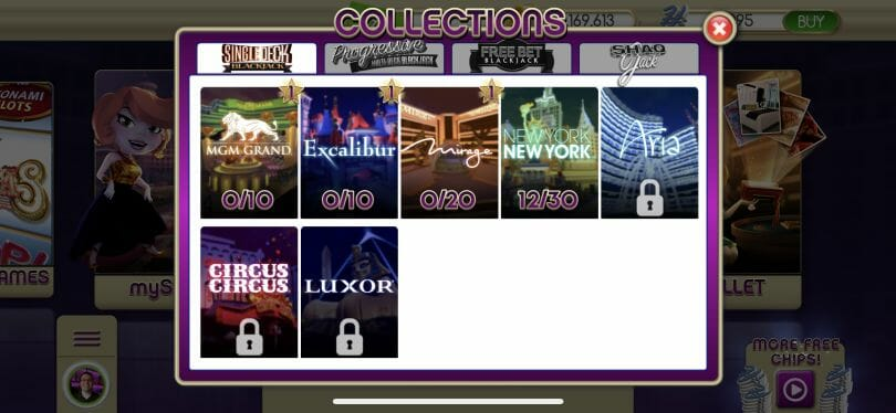 myVEGAS Card Collections