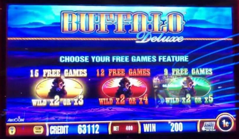 Buffalo Deluxe bonus choice