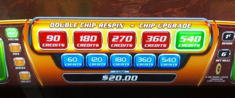 007 Casino Royale bet panel