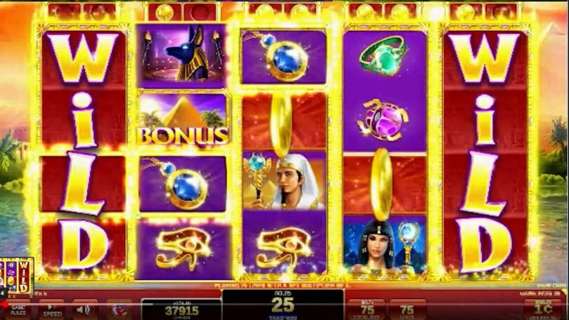 Golden Egypt by IGT coins land