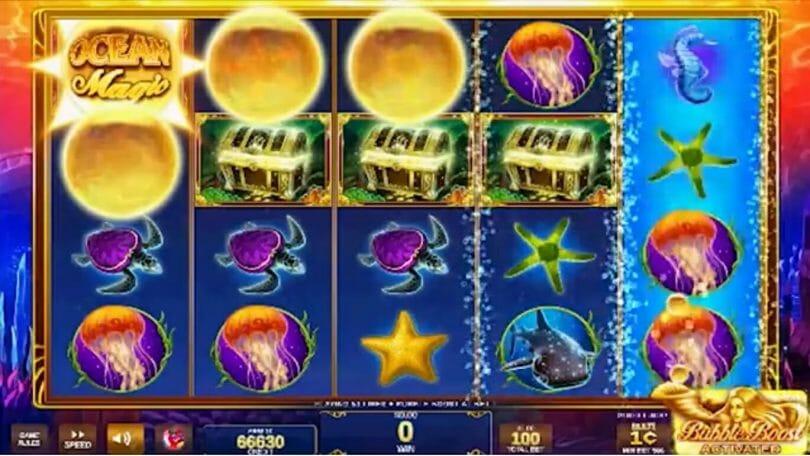 Ocean Magic IGT free games triggered