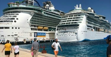 Royal Caribbean ships in Cozumel Mexico
