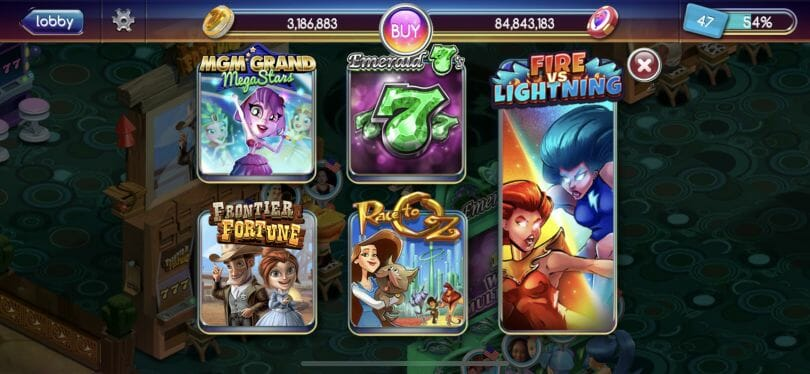 Pop Slots casino games list
