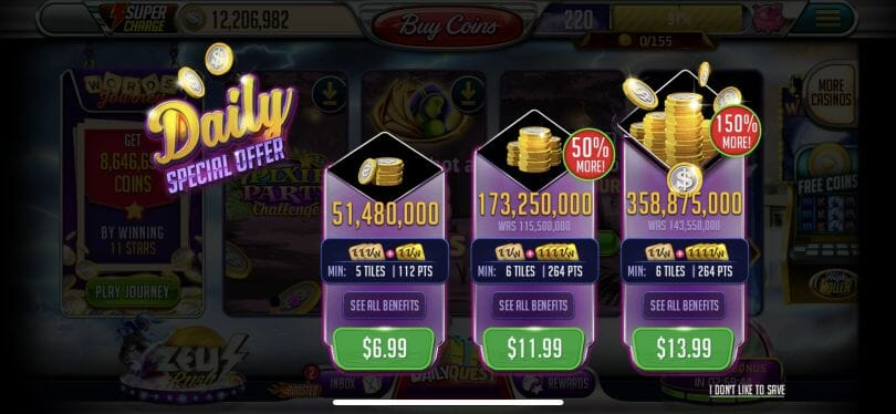 Vegas Words bonus offer
