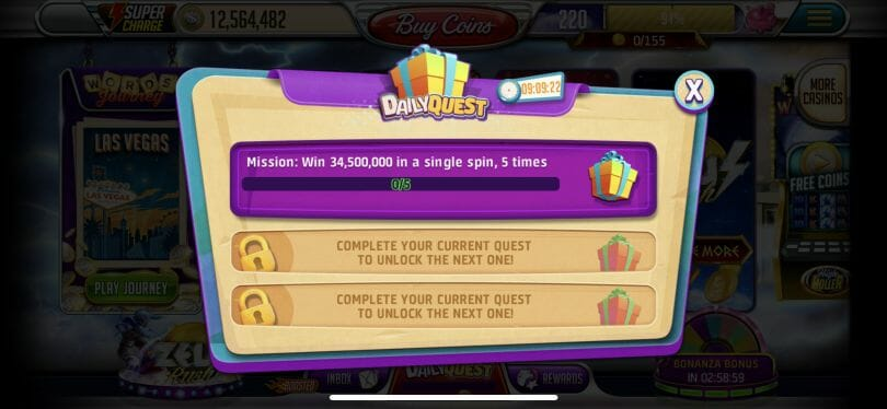 Vegas Words daily quest
