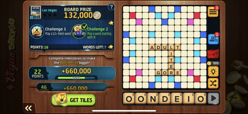 Vegas Words word game