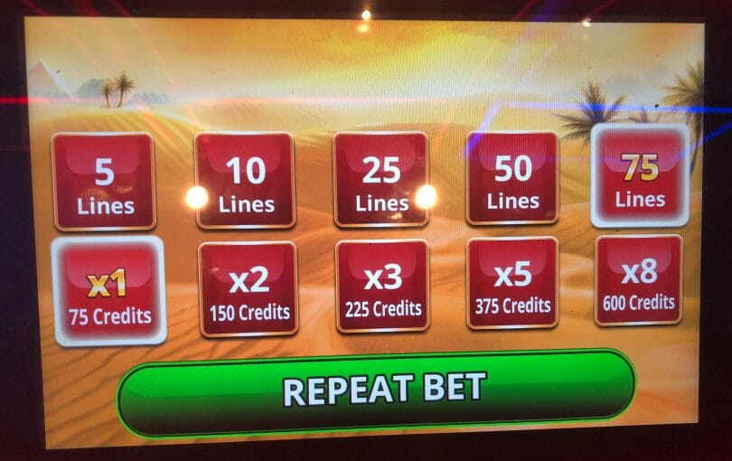 Golden Egypt Grand by IGT bet panel