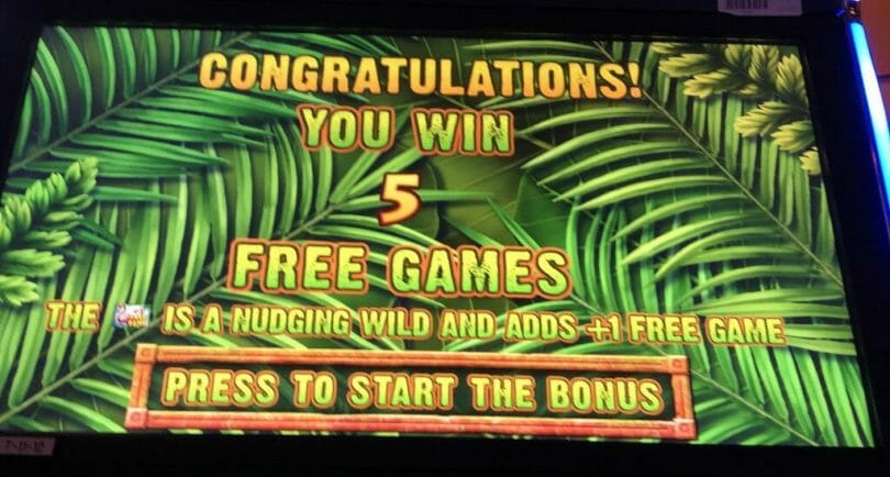 Jungle Riches by IGT Free Spin Bonus