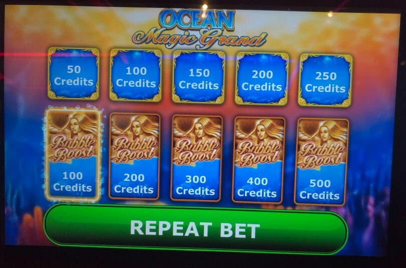 Ocean Magic Grand by IGT bet panel