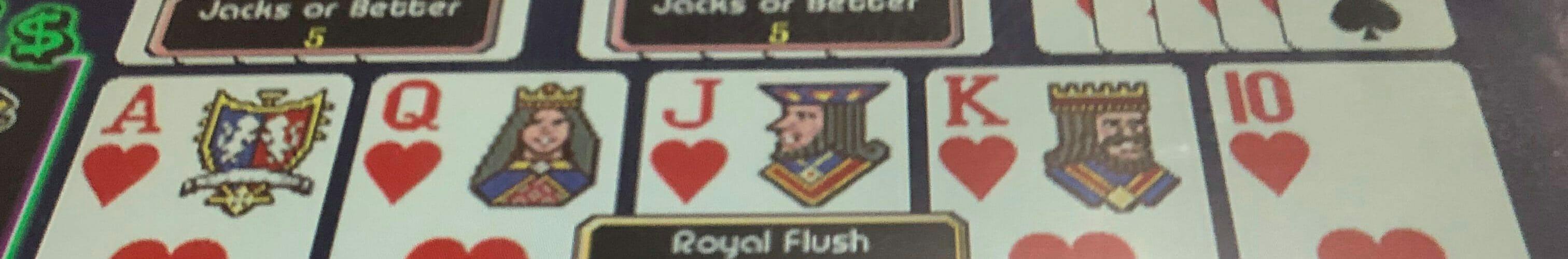 Nickels royal flush on free play