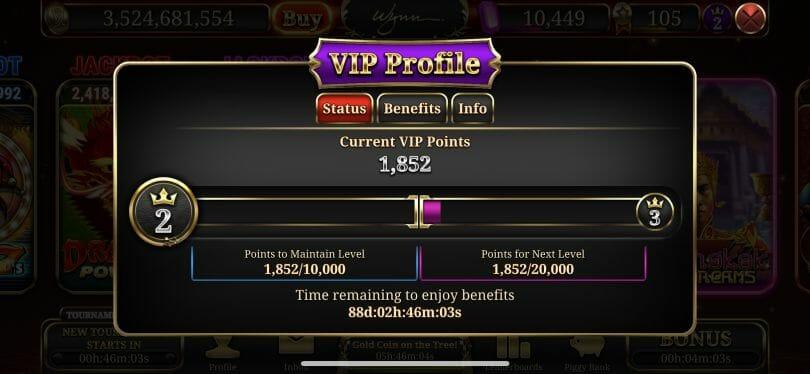 Wynn Slots VIP level