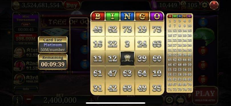 Wynn Slots bingo