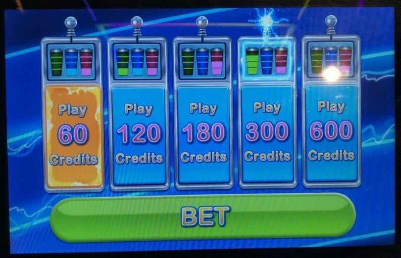 Electromax by IGT bet panel