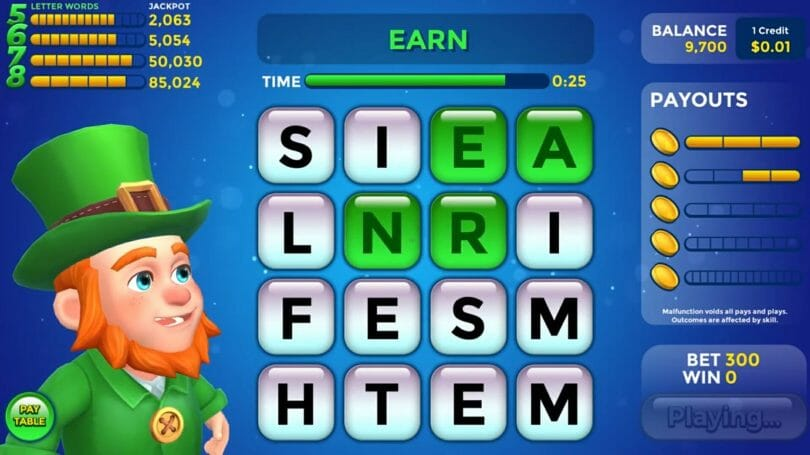 Lucky Words by Gamblit Gaming payouts