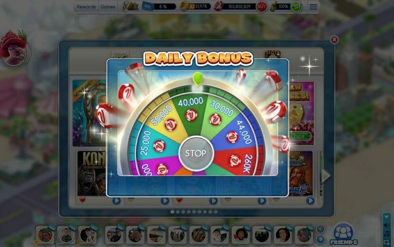 MyVegas on Facebook daily wheel spin