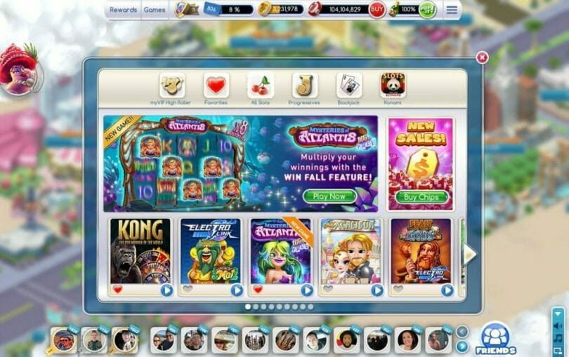 MyVEGAS on Facebook slot lobby