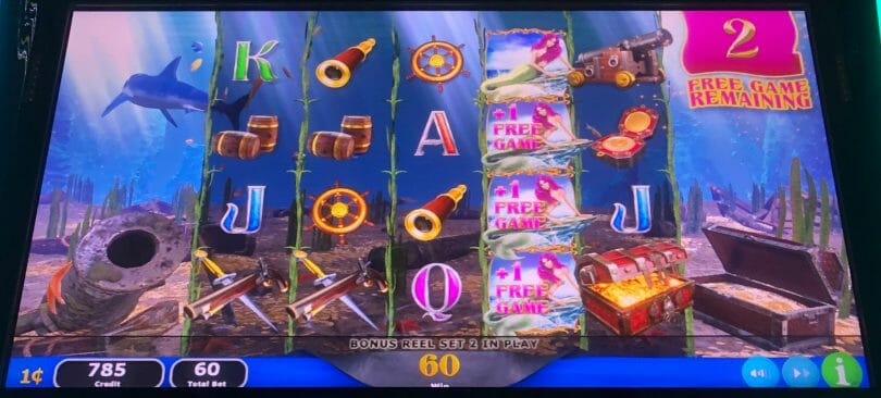 Reef of Riches by IGT free spin retrigger