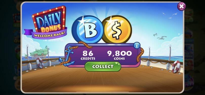 Bingo Blitz daily reward