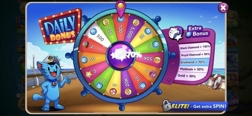 Bingo Blitz daily wheel spin