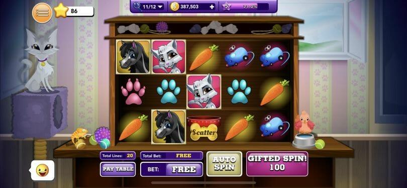 Bingo Blitz slot example
