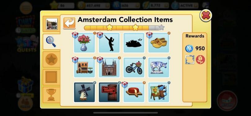 Bingo Blitz Amsterdam collection items