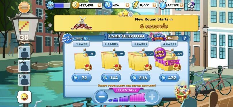 Bingo Blitz board options