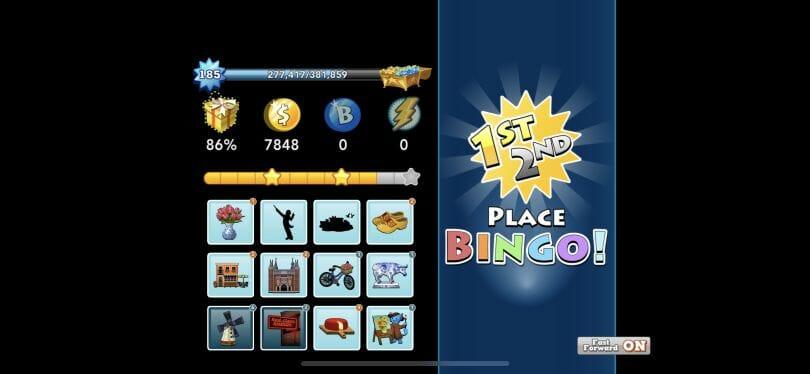 Bingo Blitz end of round