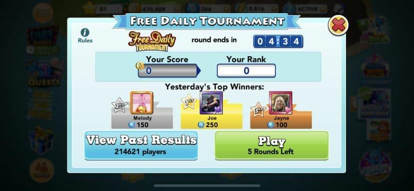 Bingo Blitz tournaments