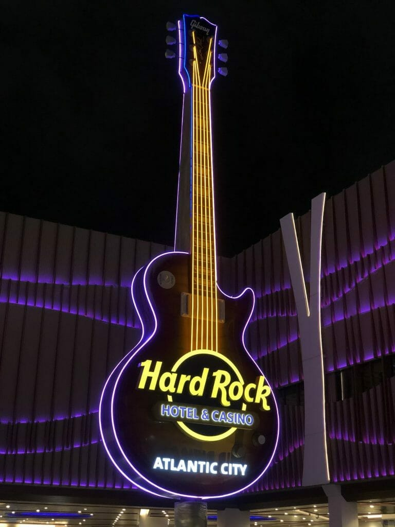 Hard Rock Atlantic City entrance guitar