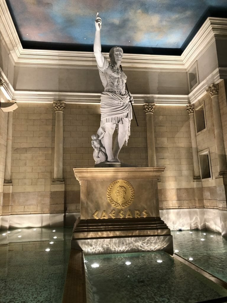 Statue in Caesars Atlantic City