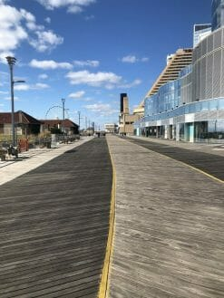 Boardwalk during the day in Atlantic City