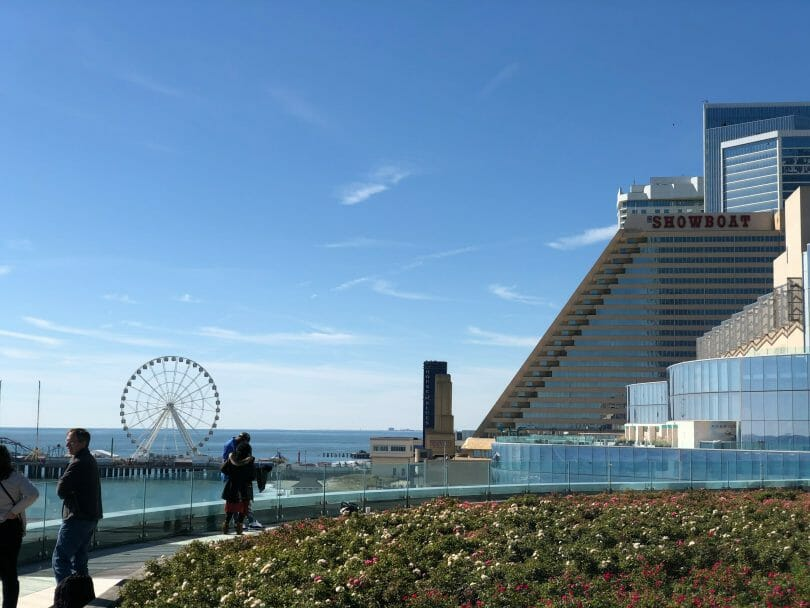 Steel Pier observation wheel and Showboat in Atlantic City