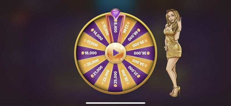 Hard Rock Social Casino daily wheel
