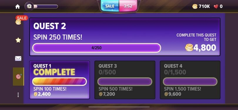 Hard Rock Social Casino daily quests