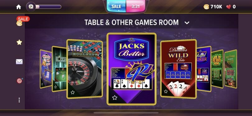 Hard Rock Social Casino table and other games room