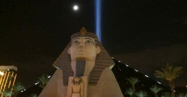 Luxor Las Vegas sphinx at night
