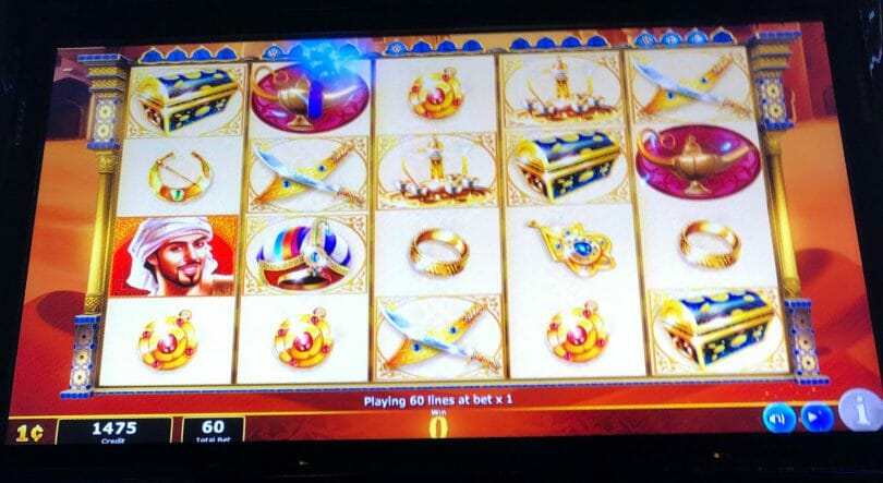 Aladdin's Fortune 3D by IGT landed magic lamps