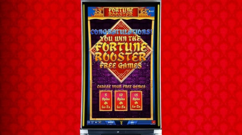 Fortune Rooster by IGT free spin bonus choice
