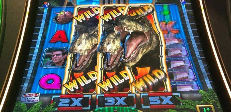 Jurassic Park Trilogy: Jurassic Park by IGT three wild reels