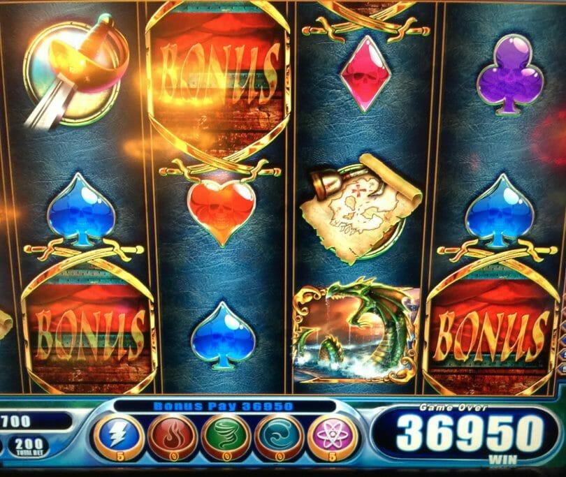 WMS Power Spins Pirates of the Deep 180x bonus