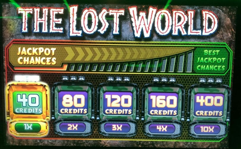 Jurassic Park Trilogy: The Lost World by IGT bet panel